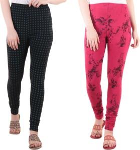 Diaz Women's Black, Pink Leggings