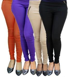 Magrace Women's Orange, Beige, Black, Blue Jeggings