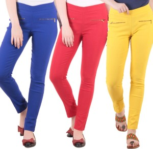 Diaz Women's Blue, Red, Yellow Jeggings