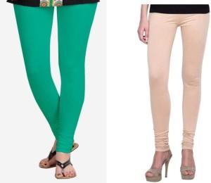 StudioRavel Women's Green, Beige Leggings