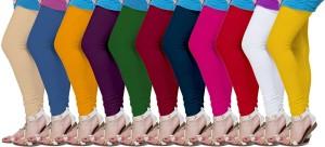 Fronex India Women's Yellow, Beige, Blue, Purple, Green, Maroon, Pink, Red, White Leggings