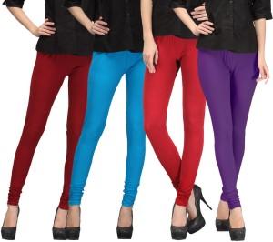 E'Hiose Women's Maroon, Blue, Red, Purple Leggings