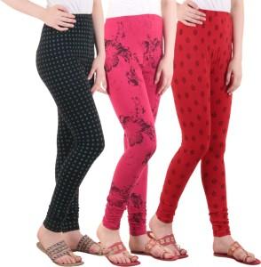 Diaz Women's Black, Pink, Red Leggings