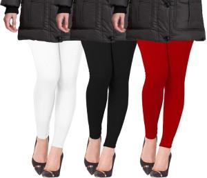 f6e826dff4 Lux Lyra Women's White, Black, Red LeggingsPack of 3