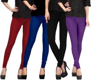 E'Hiose Women's Maroon, Dark Blue, Black, Purple Leggings