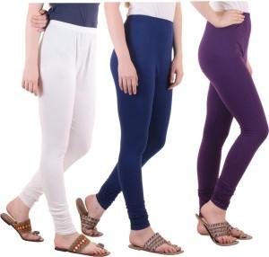 Diaz Women's White, Blue, Purple Leggings