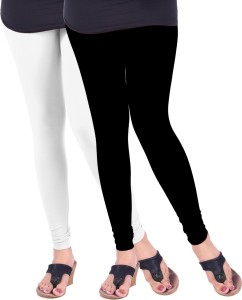7a876640aa Lux Lyra Women's White, Black LeggingsPack of 2