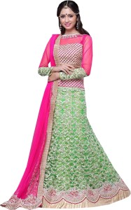 8045f2c9cc Greenvilla Designs Embroidered Women's Lehenga Choli and Dupatta Set (  Stitched )