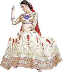 0798d86f904 Aasvaa Embroidered Women s Lehenga Choli and Dupatta Set Stitched ...