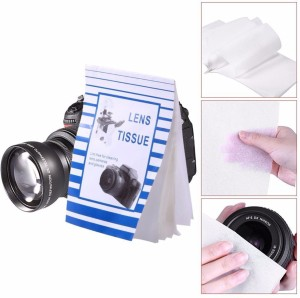 Sigaram Lens Cleaning Paper - 50 Single Sheets - For Lenses, Camera, Camcorders, Telescopes, Eyepieces, Binoculars, Microscopes, Filters and other optics.  Lens Cleaner