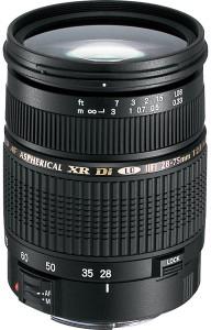 Tamron SP AF 28 - 75 mm F/2.8 XR Di LD Aspherical (IF) for Canon Digital SLR  Lens