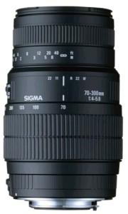 Sigma 70 - 300 mm F4-5.6 DG Macro for Nikon Digital SLR  Lens