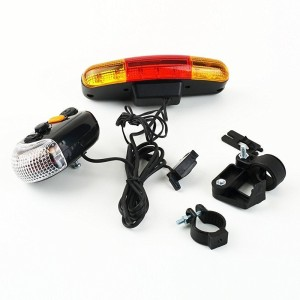Shrih 3 In 1 Cycling Bicycle Tail 7 LED Light LED Rear Break Light   Multicolor