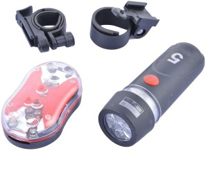 Shrih Bicycle LED Front Rear Light Combo