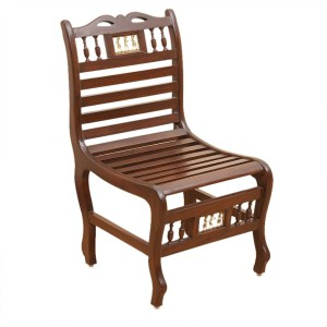 exclusivelane teak wood solid wood living room chair finish color