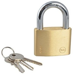 Yale Essential Series Solid Brass 60mm YE1/60/132/1 PadlockGold