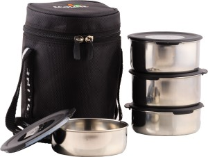 Ecoline Appliances V4 Black 4 Containers Lunch Box