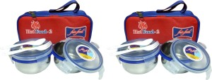 Fair Food AIR TIGHT & LEAK PROOF 2 Containers Lunch Box