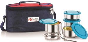 Nano Nine Tiffiny 4pc. Meal Pack (350ml x 2 & 250ml x 2) 4 Containers Lunch Box