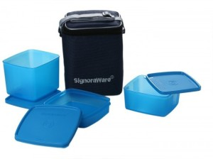 Signoraware Director Special Lunch Box (Medium) -Blue 3 Containers Lunch Box