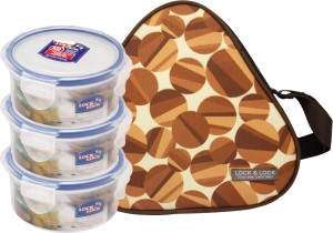 Lock & Lock Triangle 3 Containers Lunch Box ( 300 ml )