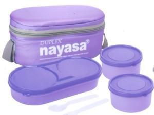 Nayasa 1 Xclusive duplex purple 3 Containers Lunch Box