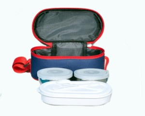Life Line Services insulated lunch box blue 3 Containers Lunch Box