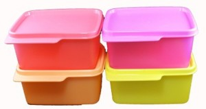 Tupperware KEEP TAB SMALL 4 Containers Lunch Box