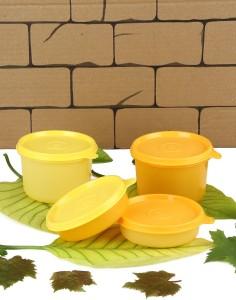 Tupperware Tupperware Vargin Plastic lunch Box yellow and orange 4 Containers Lunch Box