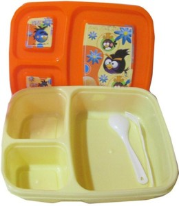Goldcave Kids Angry Bird 3 Containers Lunch Box