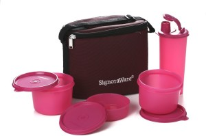 Signoraware 521 Combo Executive (Medium) With Bag 4 Containers Lunch Box