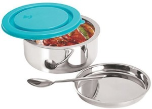 cce63344f6d2 Nano Nine Senior Stainless Steel Double Wall Insulated 1 Containers Lunch  Box450 ml
