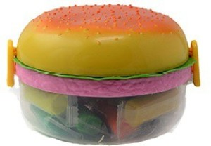 Pratha Kids Burger 1 Containers Lunch Box