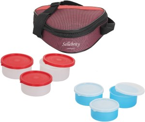 Sellebrity Deluxe Triangle With 3 Boxes 6 Containers Lunch Box