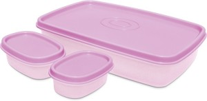 Milton I Fresh 1000ml With 2 Inner Plastic Containers, Purple 3 Containers Lunch Box