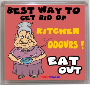 Thoughtroad Eat Out Fridge Magnet