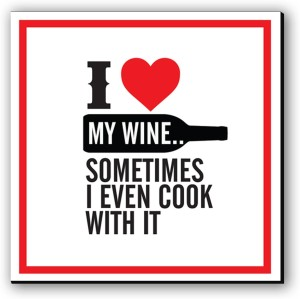 Seven Rays Cook with Wine Fridge Magnet