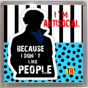 Thoughtroad I Dont Like People Door Magnet