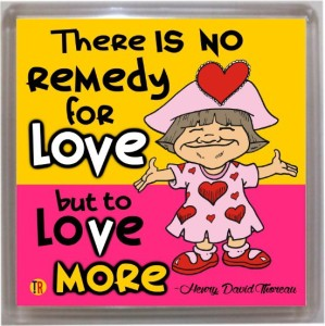 Thoughtroad No Remedy For Love Door Magnet, Fridge Magnet