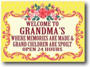 Nourish Welcome To Grandma's Fridge Magnet