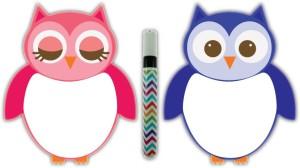 Nourish Magnetic Owl Whiteboard Kitchen Organiser Magnet