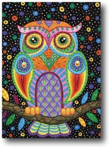 Nourish Colourful Owl Fridge Magnet
