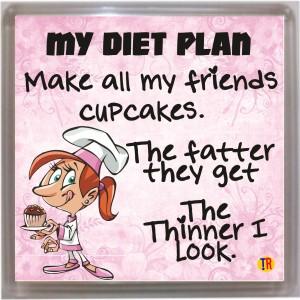 Thoughtroad My Diet Plan Door Magnet, Fridge Magnet