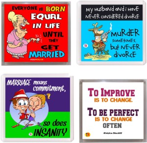 Thoughtroad Marriage Advice Fridge Magnet