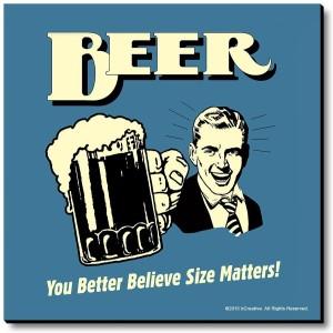 bCreative Beer You Better Believe Size Matters! Fridge Magnet, Door Magnet