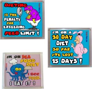 Thoughtroad Dieting Inspiration Door Magnet, Fridge Magnet