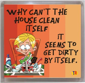 Thoughtroad House Clean Fridge Magnet