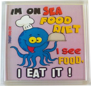 Thoughtroad Sea Food Diet Fridge Magnet