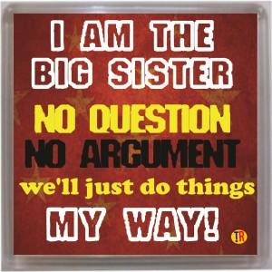 Thoughtroad Big Sister Door Magnet, Fridge Magnet