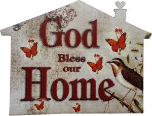 Fabionic God Bless Our Home Fridge Magnet